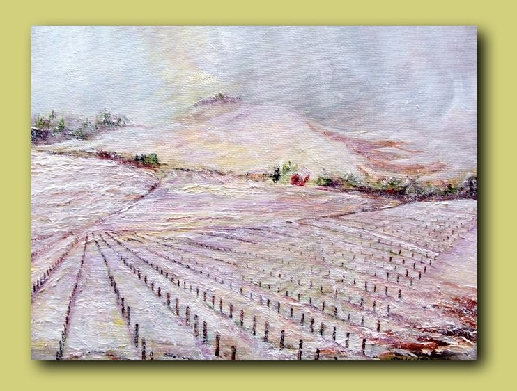Snowfall on Chianti